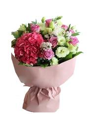 Purple Roses with Hydrangea