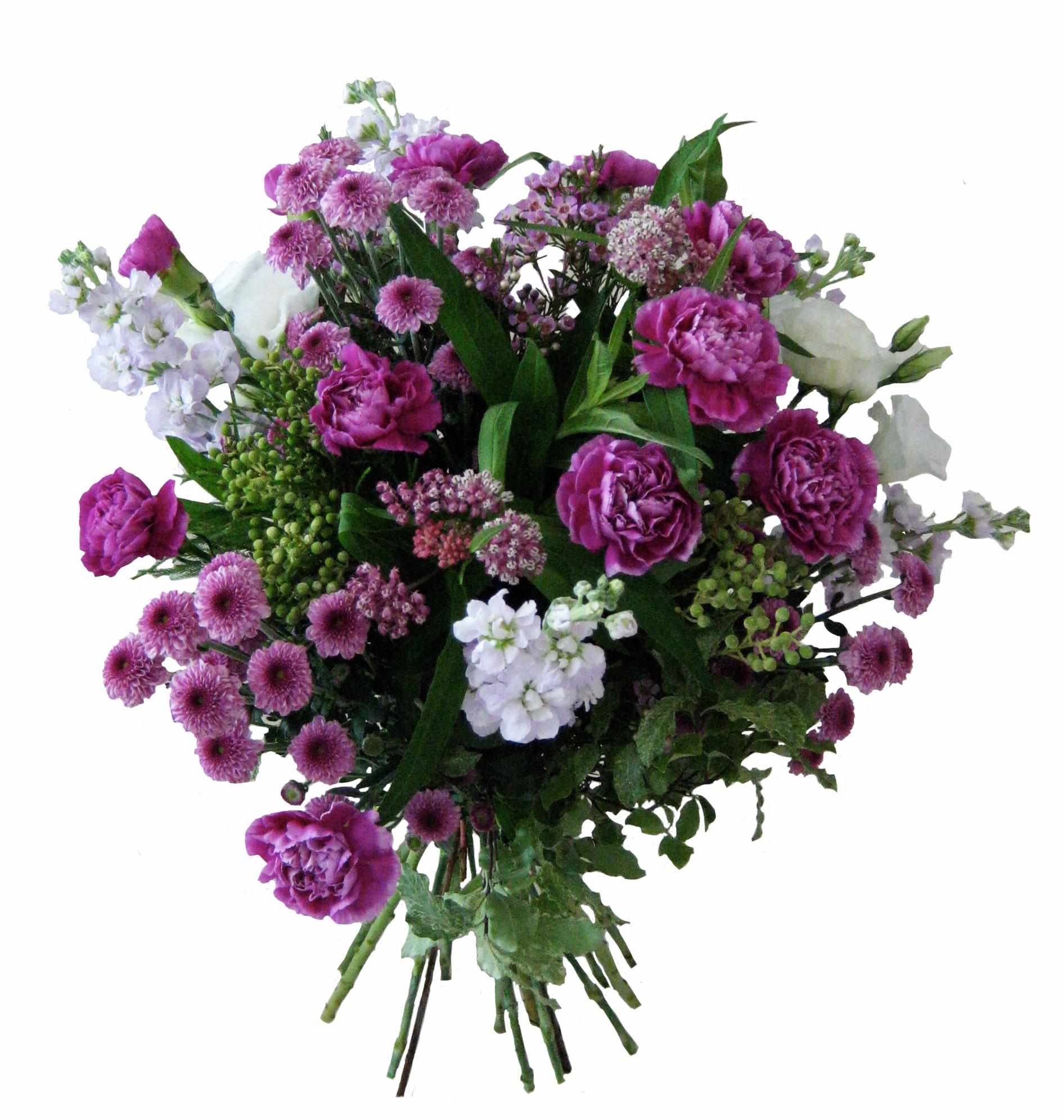 Purple carnations bouquet for Fleurs amaryllis bouquet
